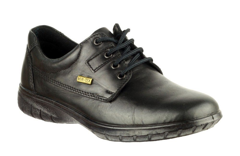 Cotswold Ruscombe black leather upper ladies size waterproof lace up shoe size ladies 3-8 41129a