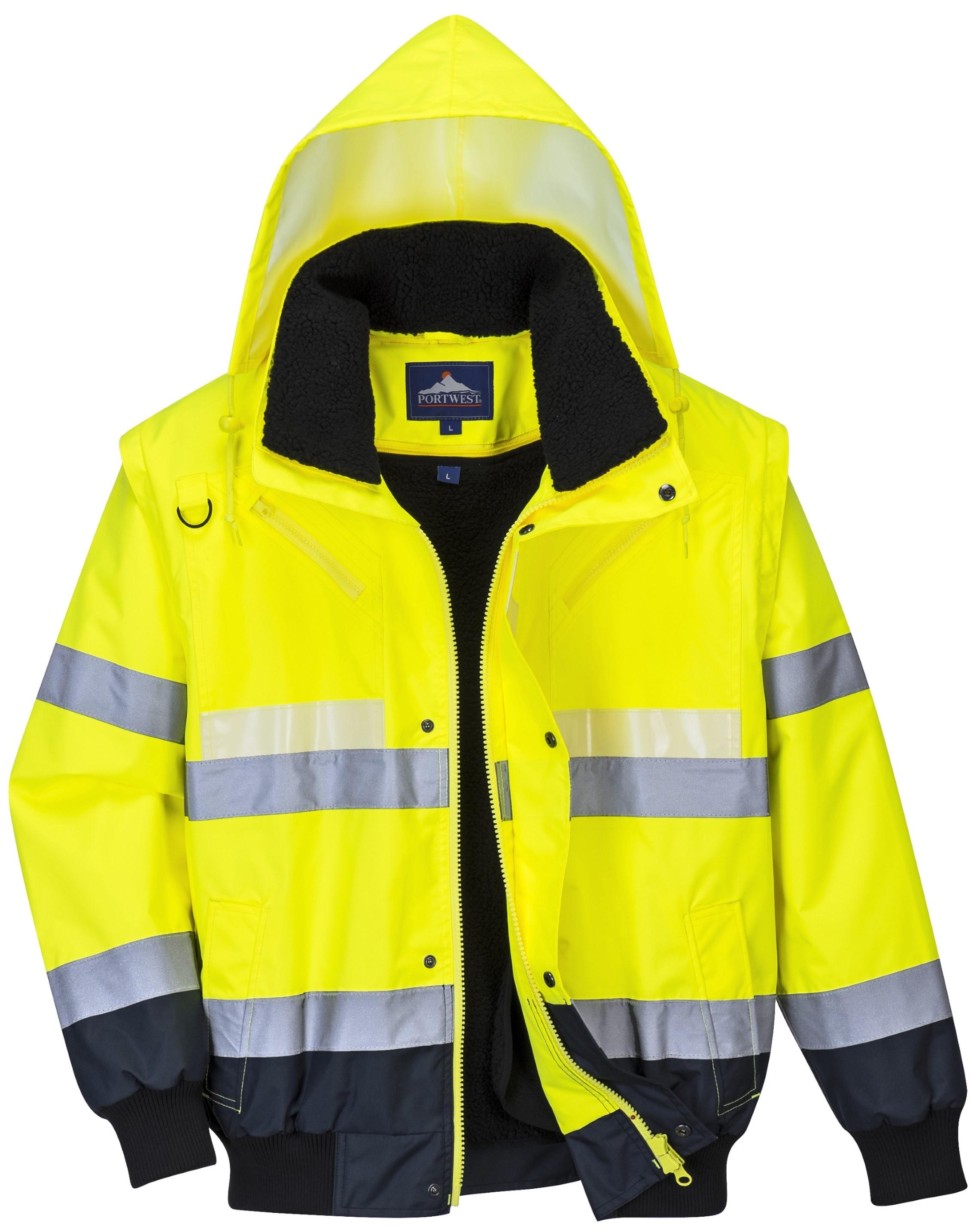 Portwest S460YERXXXL Hi-Vis Traffic Jacket Yellow Regular Size 3X-Large