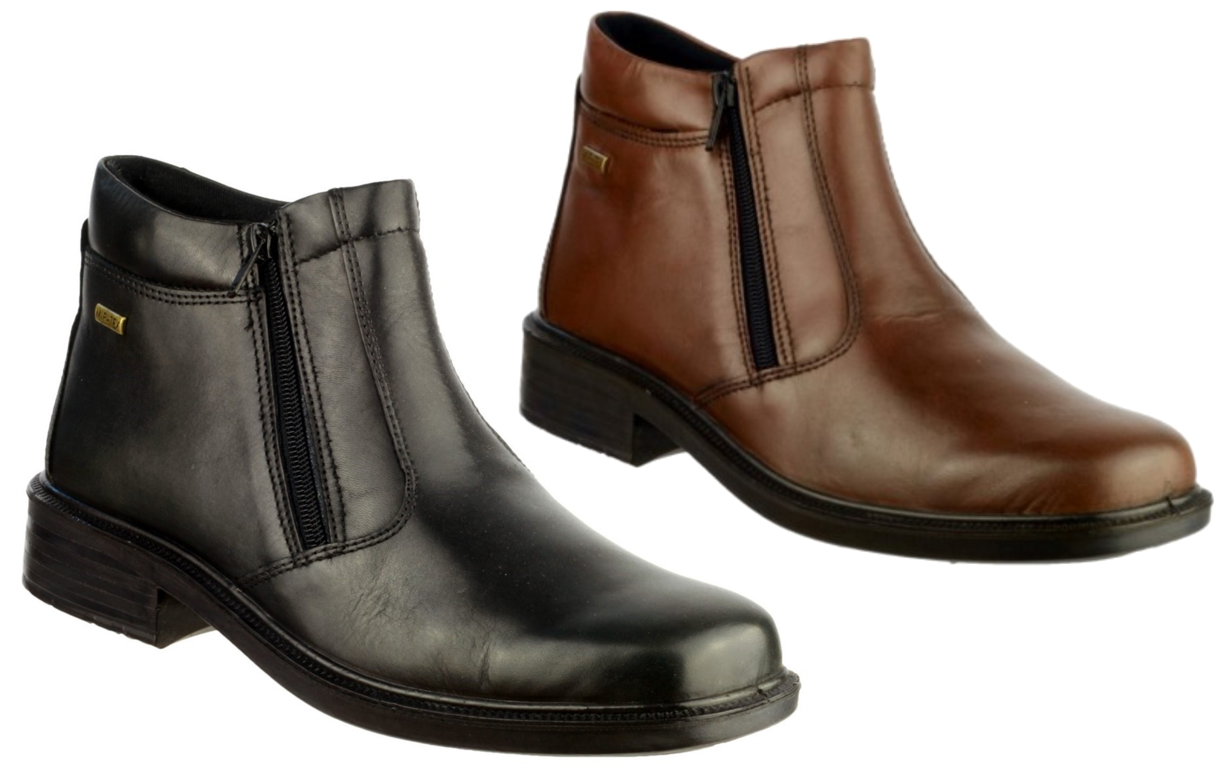 Cotswold Kelmscott black or brown leather waterproof zip up ankle boot
