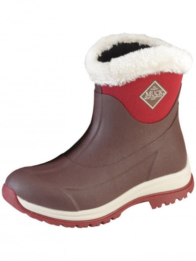 Muck Arctic Apres AP8-900 brown/red non-safety non-safety non-safety casual winter boot size 3-9 c2fb38