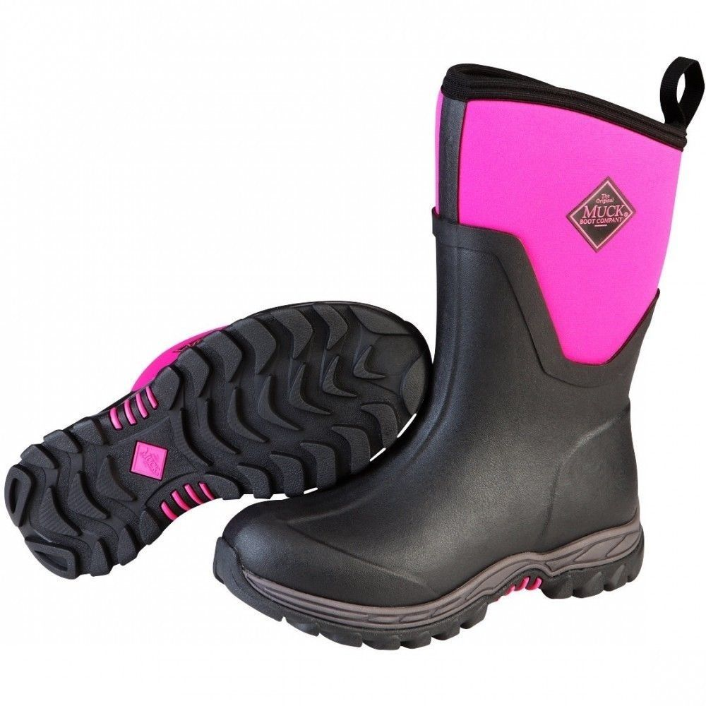 Muck pink Arctic Sport Mid AS2M-400 pink Muck non-safety ladies wellington boot size 3-9 7a2c1a
