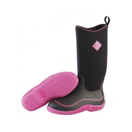 Muck Hale ladies Damenss HAW-404 schwarz/pink non-safety ladies Hale wellington boot Größe 3-9 9d3a92