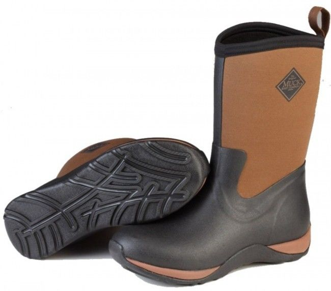 Muck Arctic Weekend wellington WAW-090 schwarz/tan non-safety ladies wellington Weekend boot Größe 3-9 b5427c