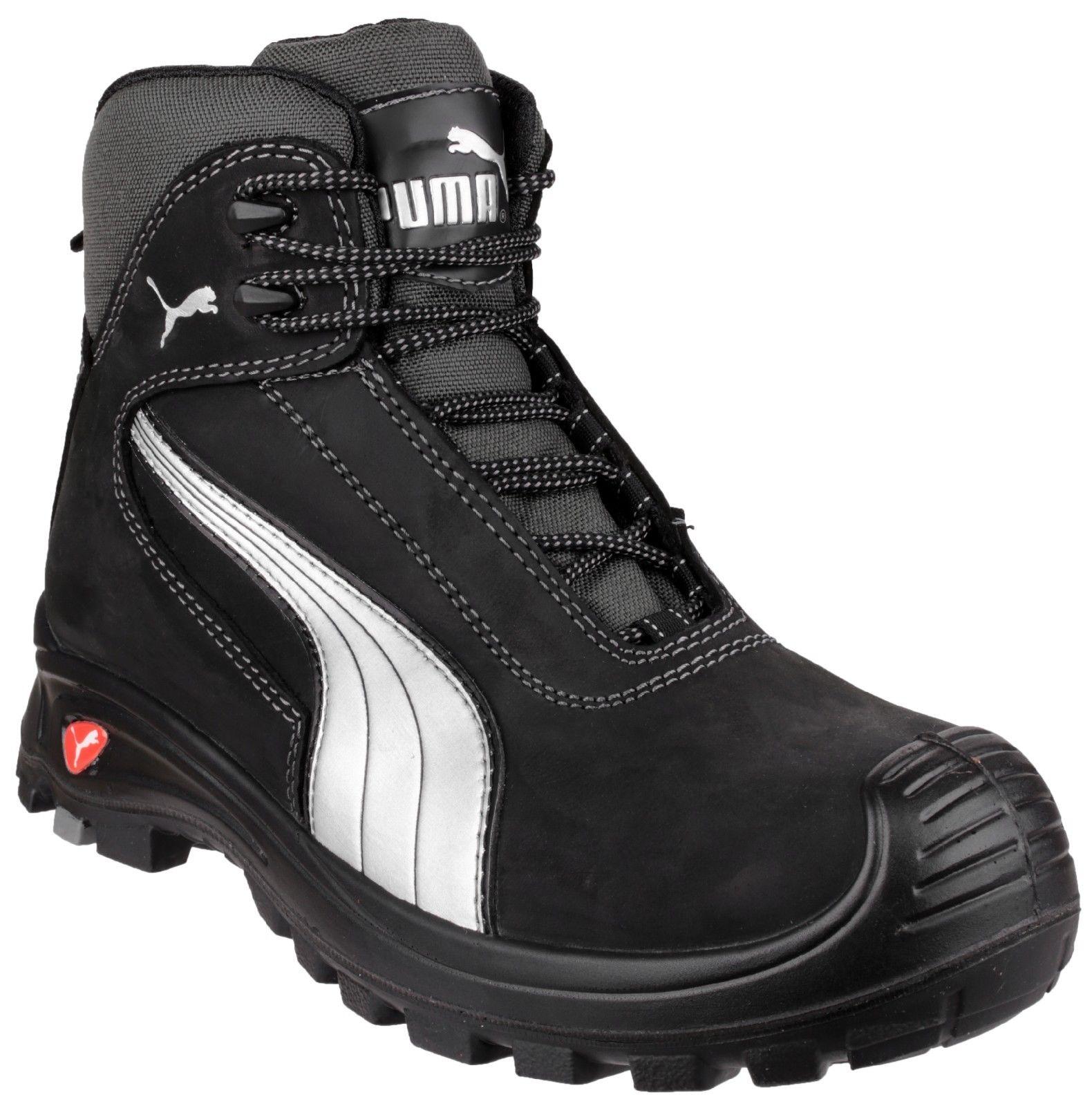 91f0afbfa9b36 Puma 630210 Cascades Mid black S3 HRO water resistant safety boot   midsole  6-13