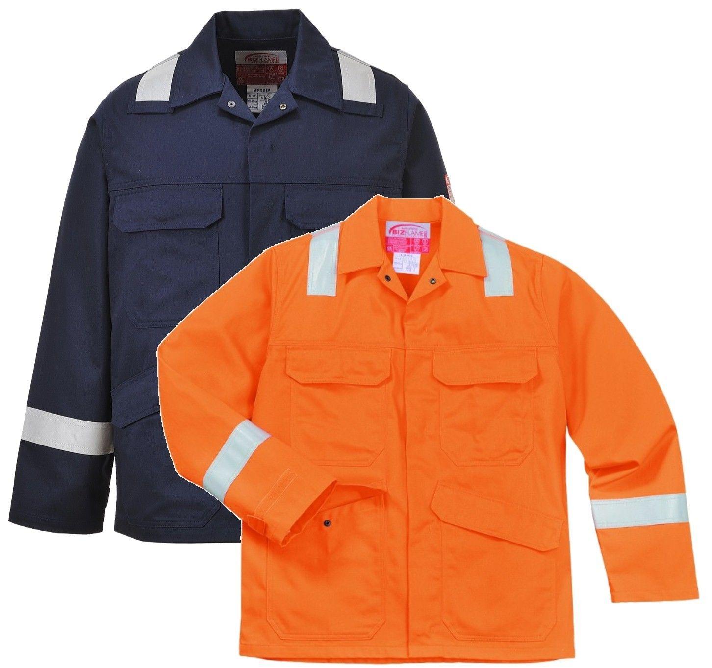 7617d99292f9 Portwest Workwear Bizflame Plus Jacket - Fr25 Navy FR25NARL Large