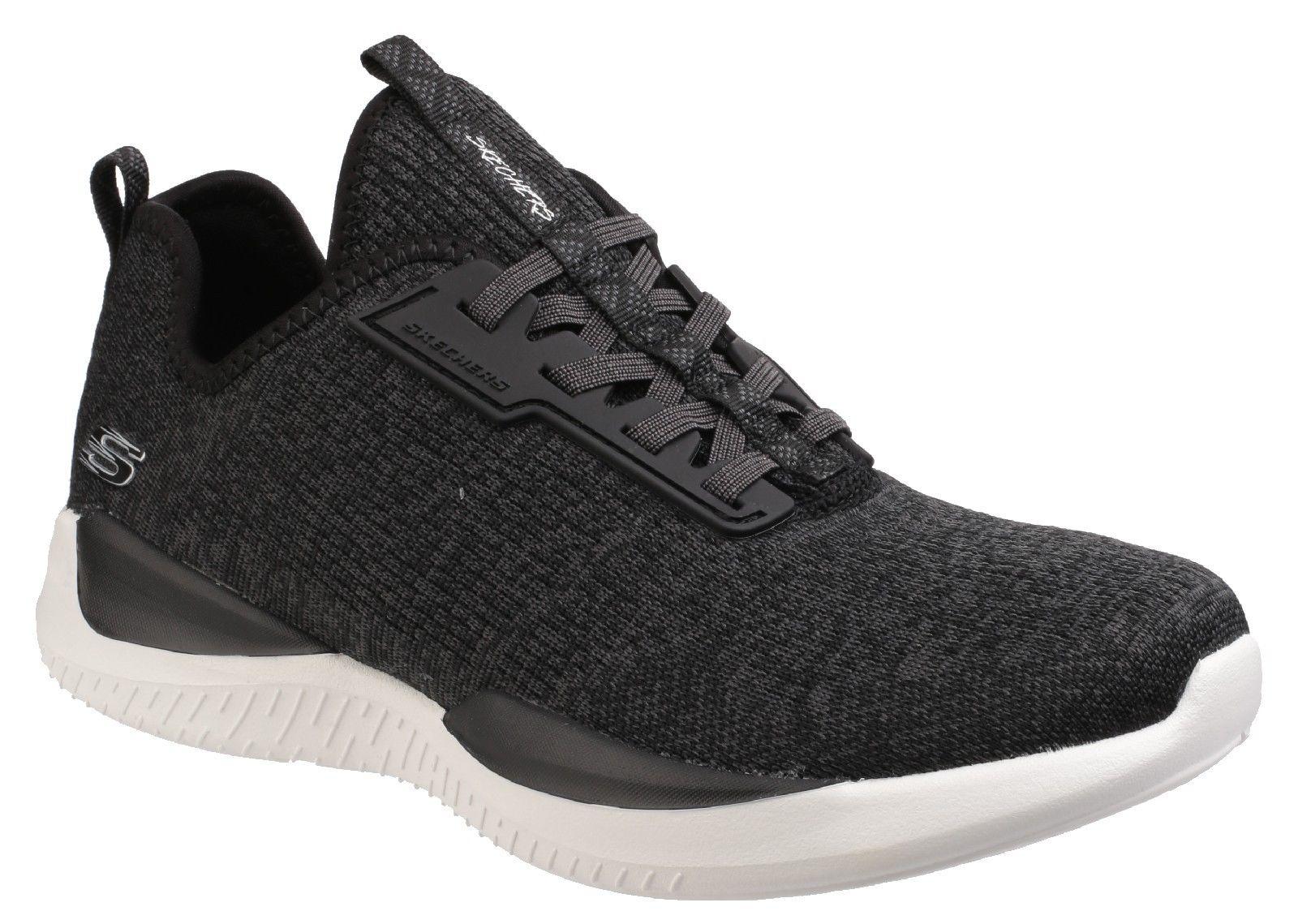 Skechers SK12456 Matrixx schwarz ladies shoe slip on comfort trainer shoe ladies Größe 3-8 2666d3