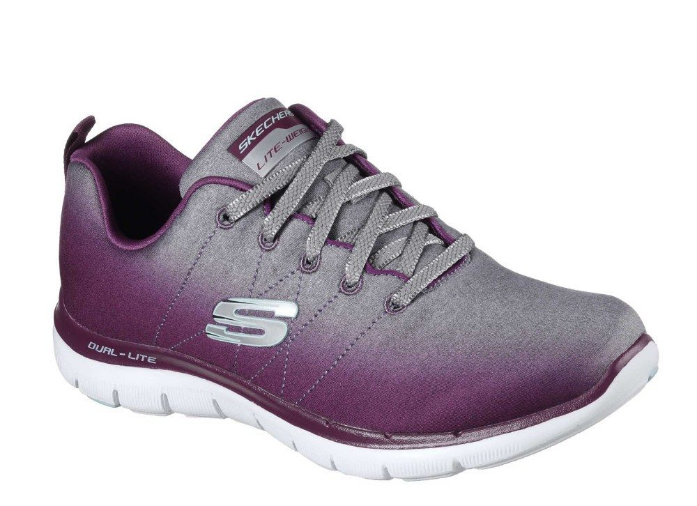 Skechers SK12763 Flex Flex Flex Appeal 2.0 Bright Side Bourgogne Sport Basket Femmes 3-8 71d3f5