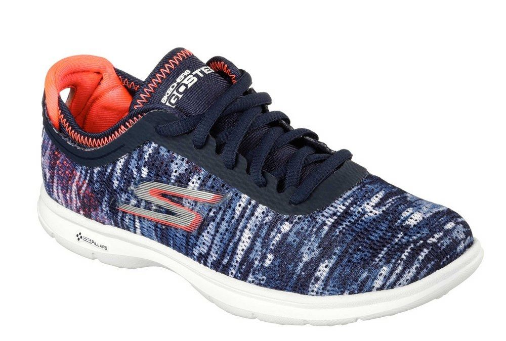 Skechers SK14200 SK14200 Skechers Go Step navy blue coral ladies sports walking trainer  size 3-8 23ed5f