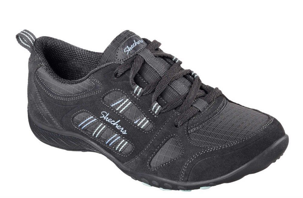 Skechers charcoal SK22544 Relaxed Fit Breathe Easy Good Luck charcoal Skechers ladies trainer 3-8 483407