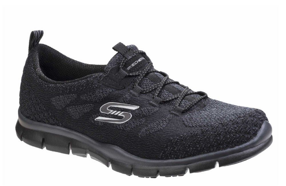 Skechers SK22758 Gratis Sleek ladies And Chic breathe-easy schwarz ladies Sleek trainer  3-8 ae10e6