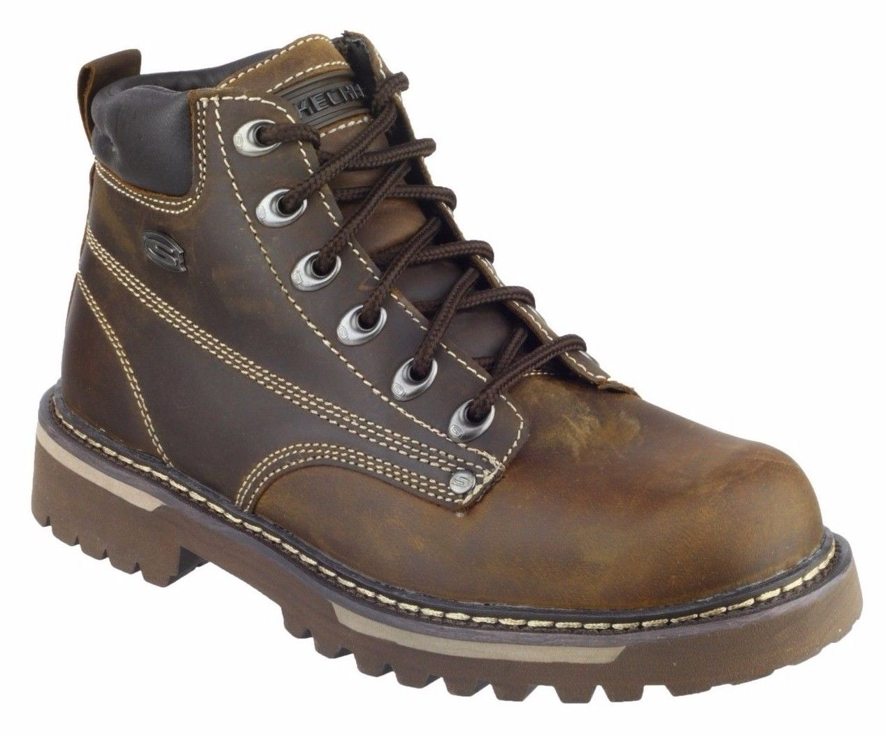 Skechers-SK4479-Homme-Cool-Cat-Bully-2-Brown-Lace-Up-Boot-Taille-6-12