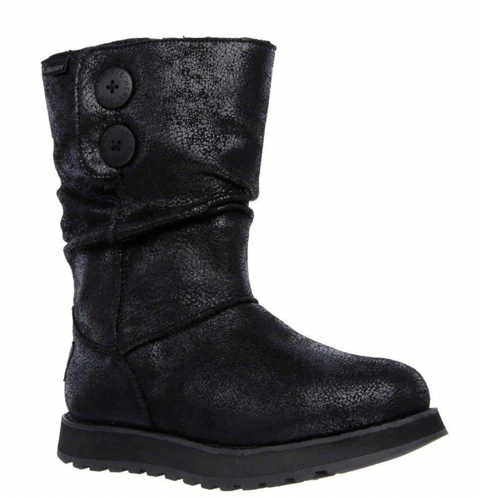 Skechers SK48367 Keepsakes on Lederesque schwarz ladies pull on Keepsakes boot shoe Größe 3-8 57b136