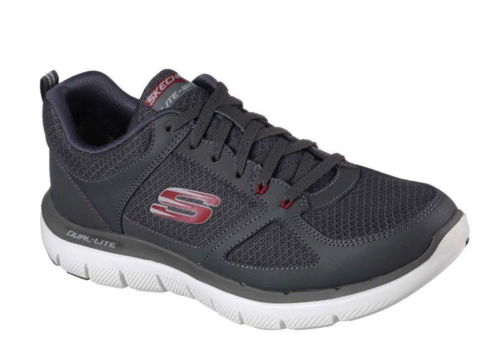 Skechers SK52189 Flex Lindman ventaja 2.0 Lindman Flex carbón Zapatilla Zapato Rojo Talla 6-12 c5a84a