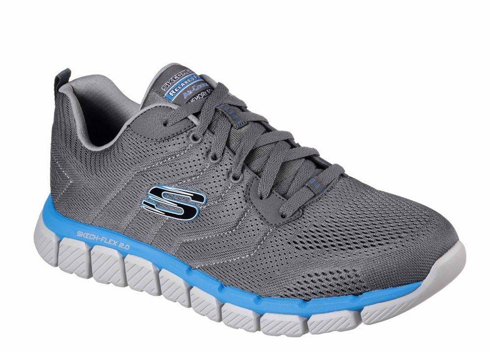 Skechers blue SK52619 Skech-Flex 2.0 Milwee charcoal grey blue Skechers trainer shoe size 6-12 6e71f1