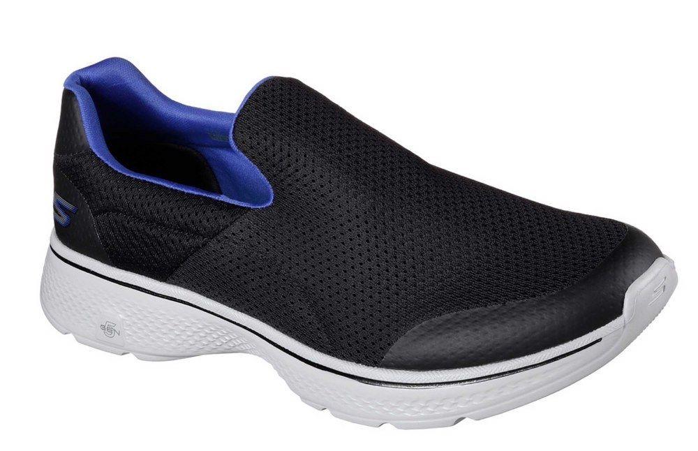 Détails sur SKECHERS SK54152 Go Walk 4 incroyable NoirBleu Slip On Shoe Taille 6 12 afficher le titre d'origine