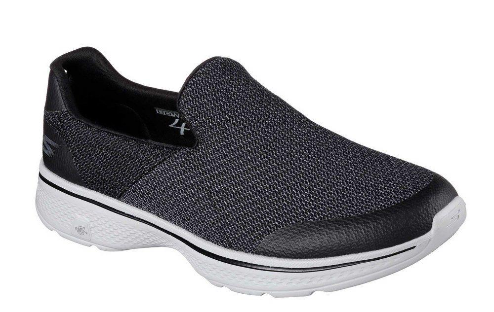 Skechers Expert SK54155 Go Walk 4 Expert Skechers schwarz Grau slip on trainer/shoe Größe 6-12 536bcb