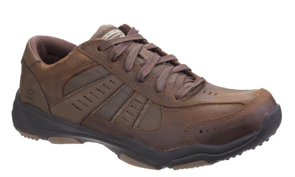 Skechers SK64833 Relaxed Fit Larson Nerick Braun trainer shoe shoe shoe Größe 6-12 1e137e