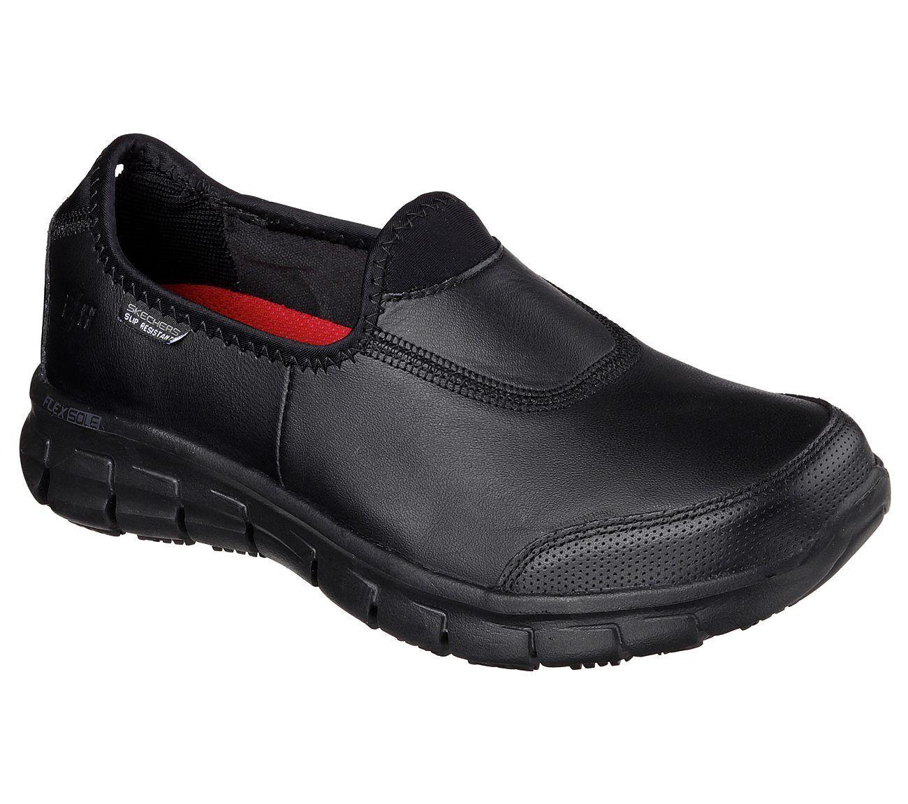 Skechers for Work 76536 Sure Track schwarz ladies NURSE work shoe sz 3-8 NURSE ladies SECURITY ba4cba