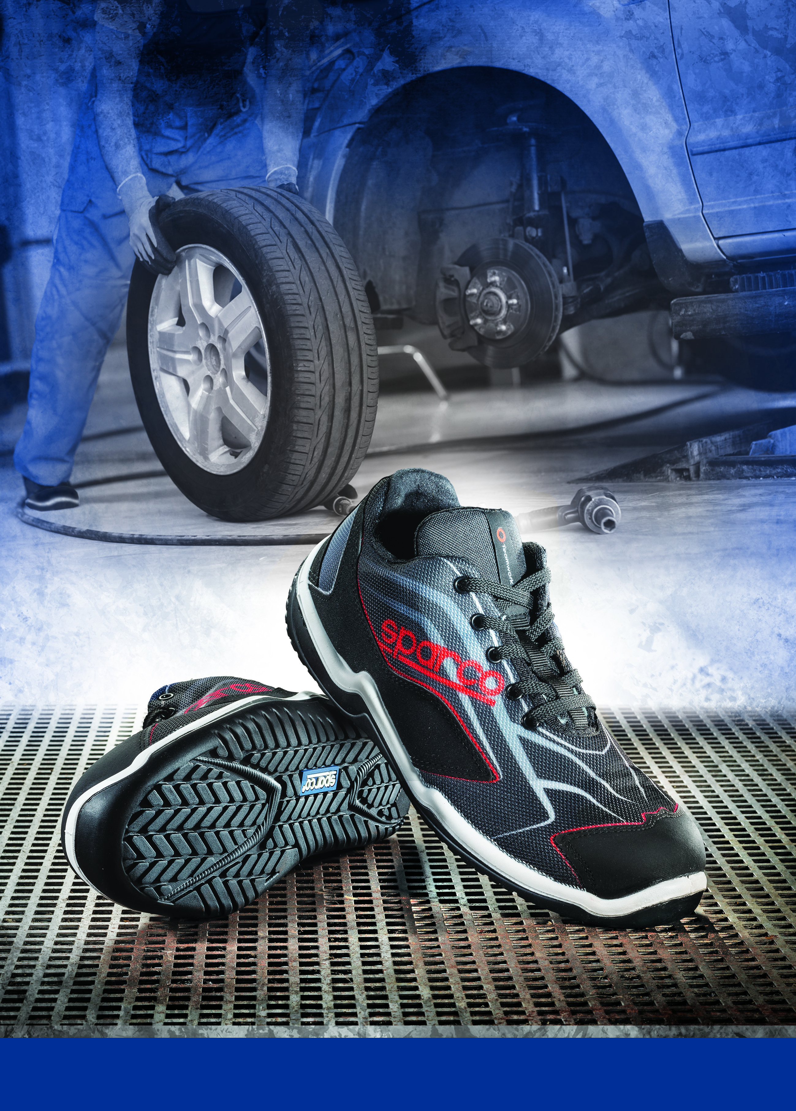 Sparco-Touring-grey-black-or-black-red-S1P-breathable-safety-trainer-shoe miniatuur 10