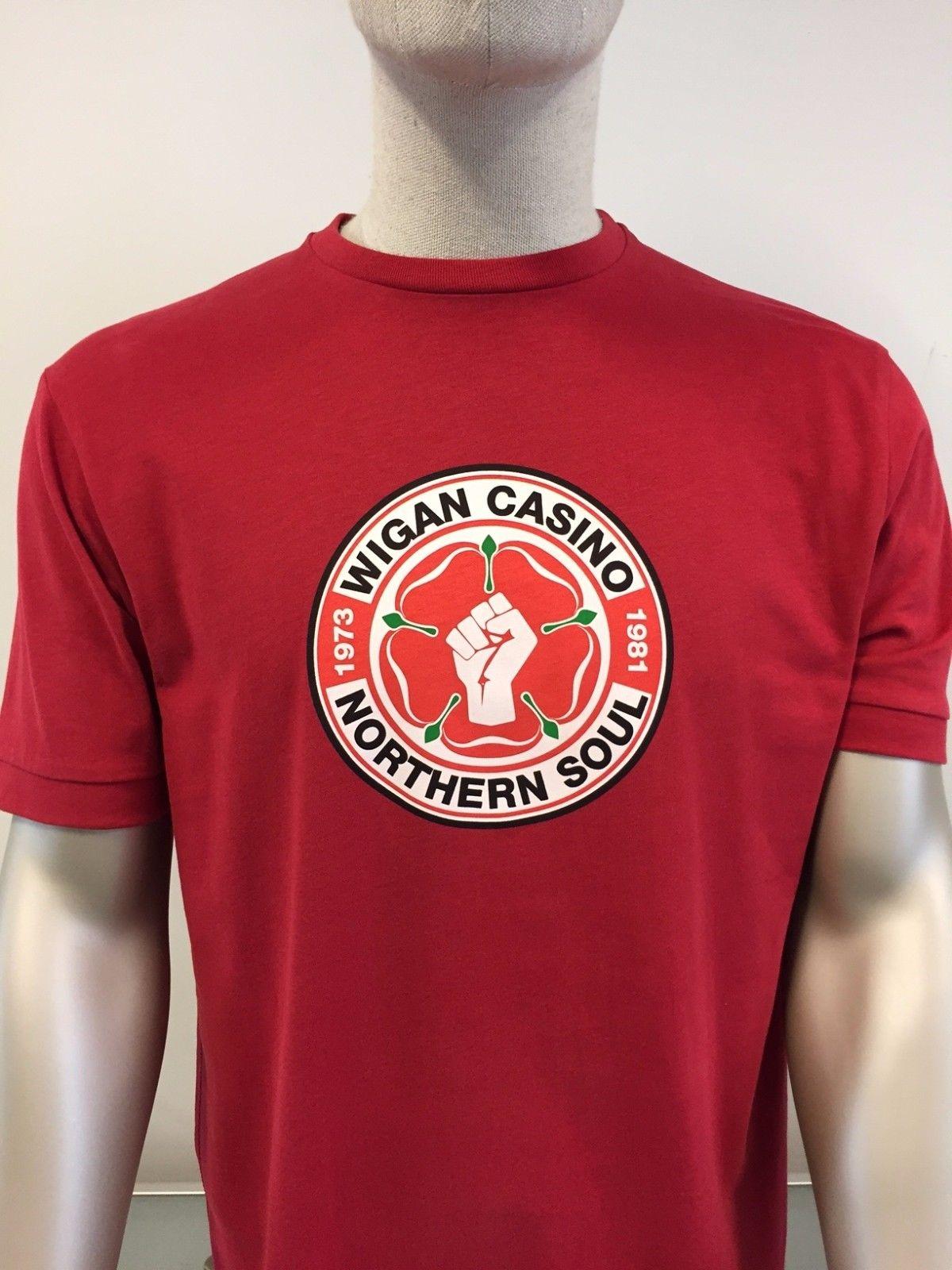 Wigan Casino 2089 old gold logo short-sleeved T-shirt size medium-3XL