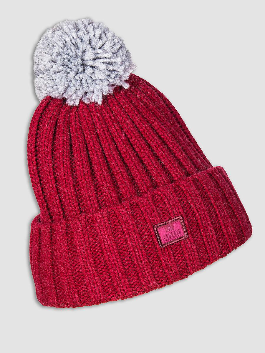38d120919 WEEKEND OFFENDER Costner goji red woolly bobble hat 5056130836281 | eBay