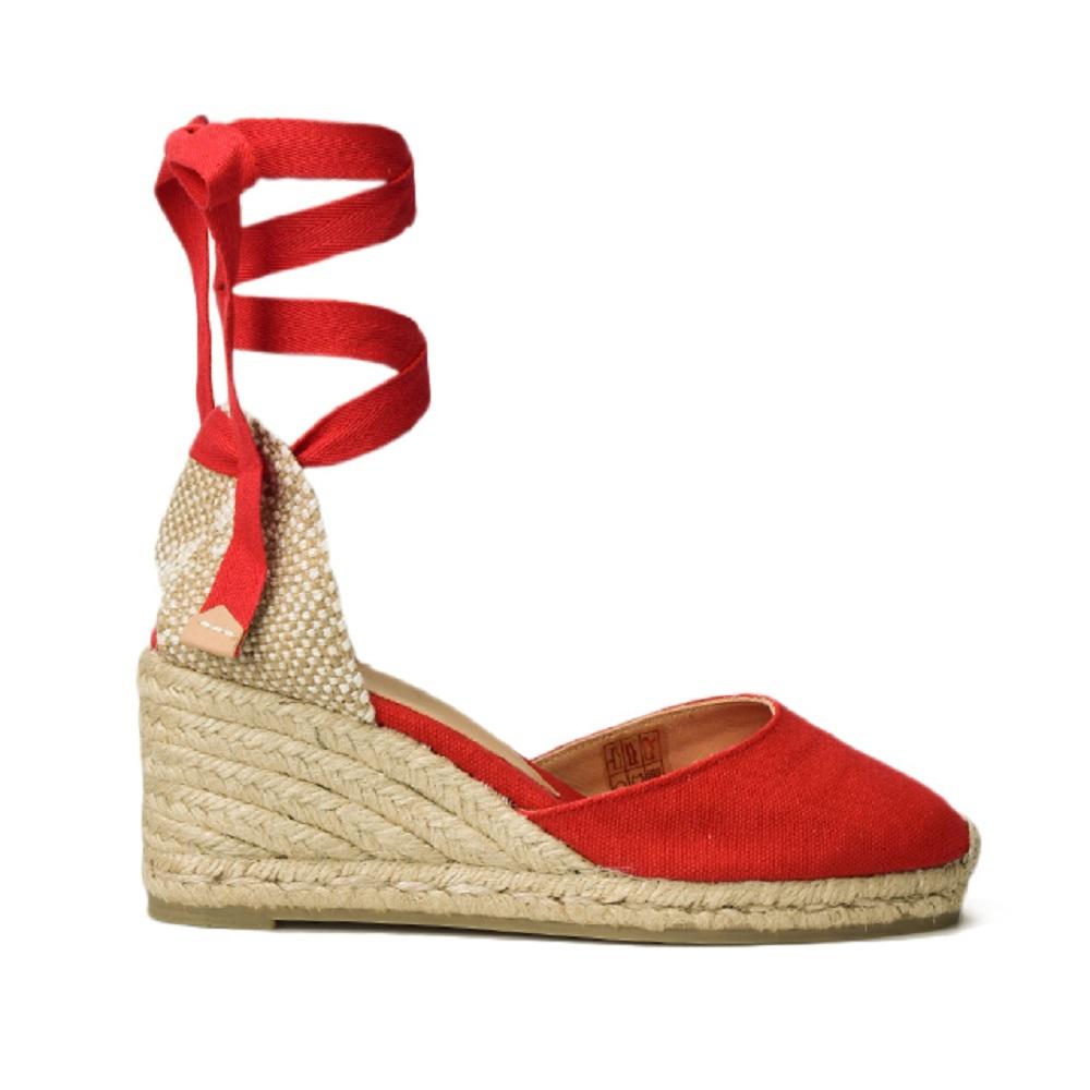 4b6d418fc92 Castaner Women s Carina Canvas Wedge Espadrille Shoes 6CM Rubi 35