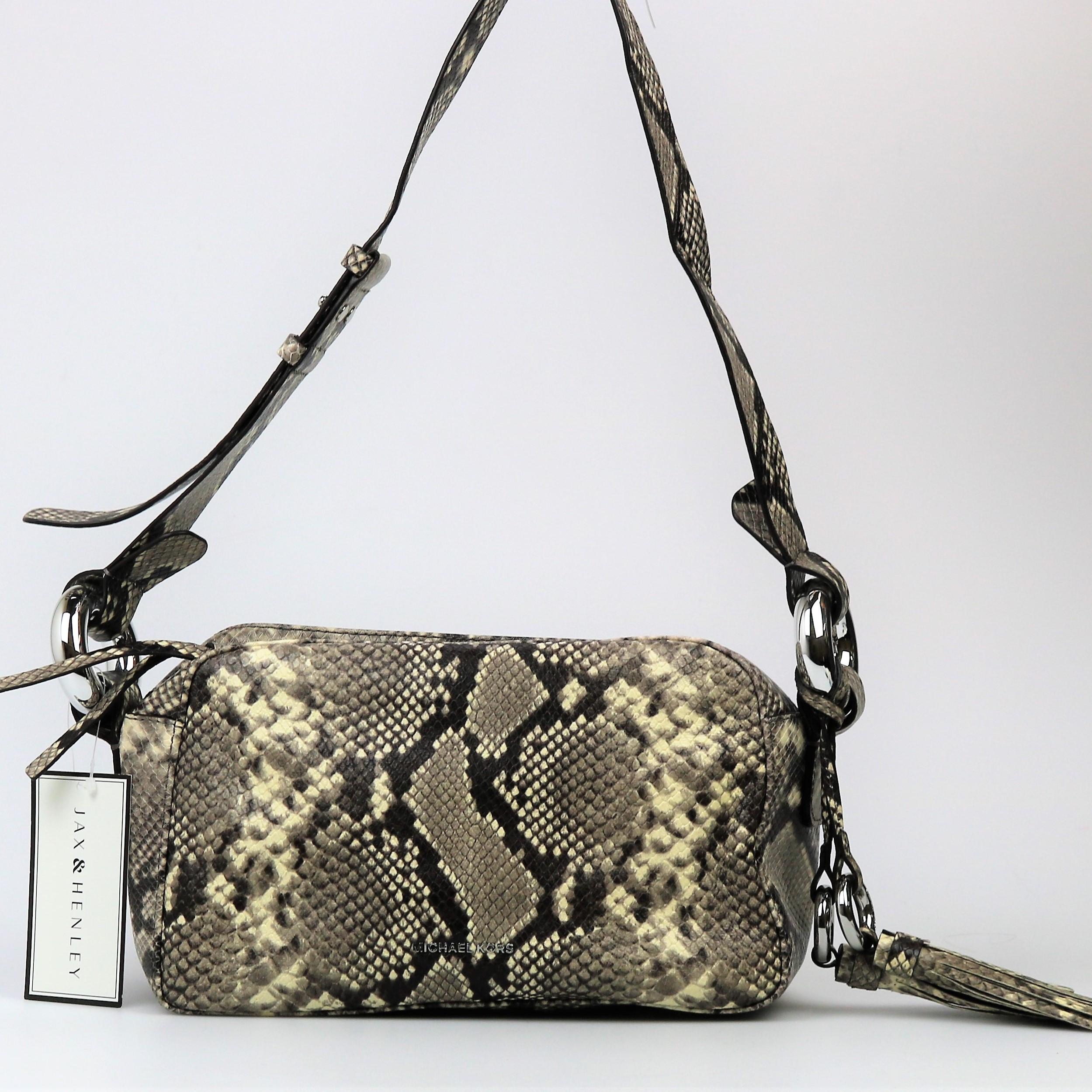 0c8bf8f0f8d6 Michael Kors Python Medium Shoulder Bag leather 190864494425 | eBay