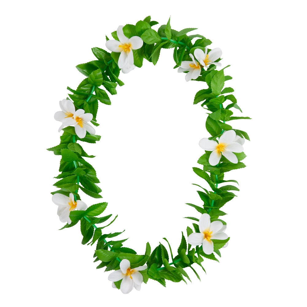Hawaiian green leaf lei flower garland fancy dress accessory summer picture 2 of 2 izmirmasajfo