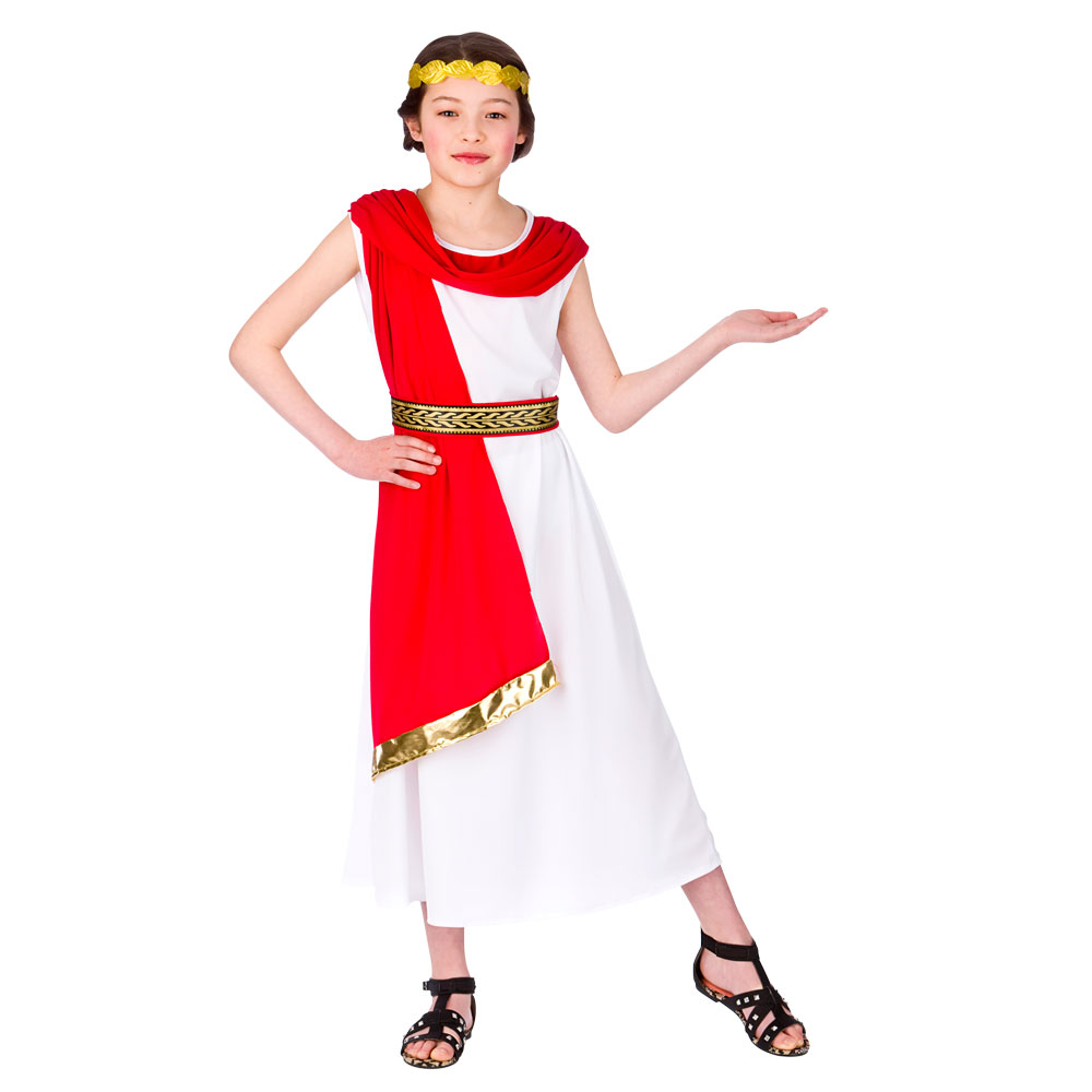 Childrens girls roman princess costume for ancient rome greek latin image is loading childrens girls roman princess costume for ancient rome solutioingenieria Image collections
