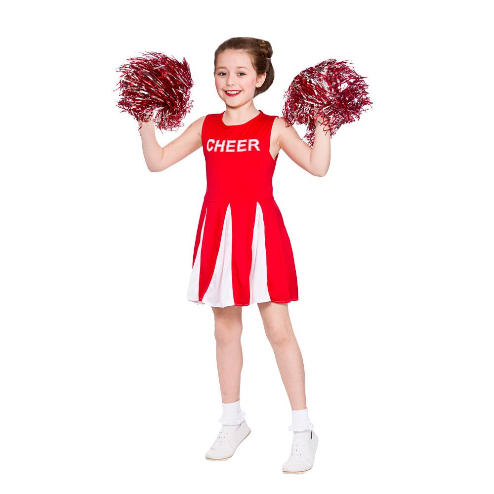 Childrens-Girls-Cheerleader-Costume-for-American-USA-Sports-  sc 1 st  eBay & Childrens Girls Cheerleader Costume for American USA Sports Fancy ...