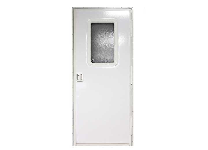 White Lippert 234101 RV Entry Door Bubble Slider Panel Clear