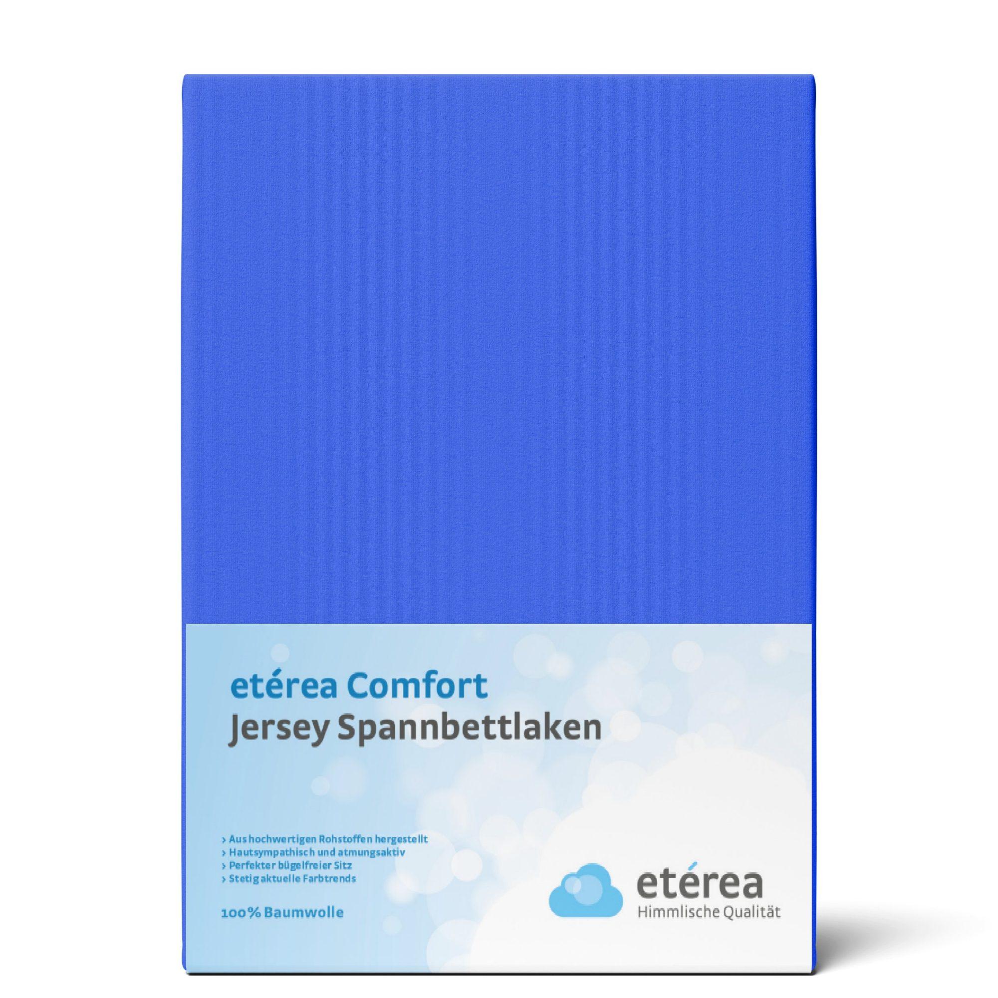 Indexbild 15 - Spannbettlaken etérea Jersey Spannbetttuch 90x200 140x200 180x200 100% Baumwolle