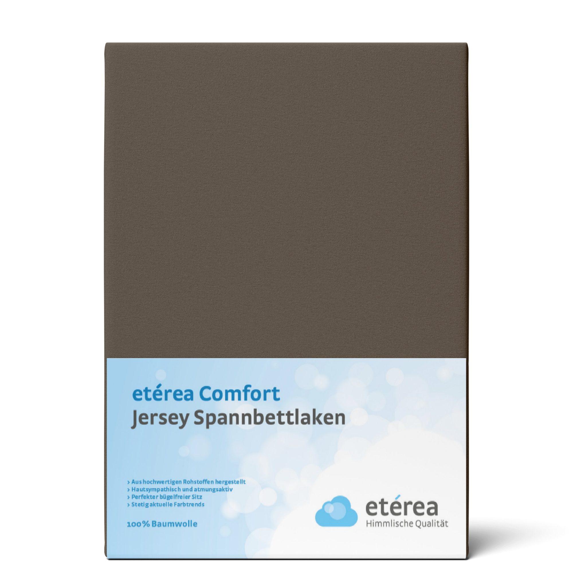 Indexbild 33 - Spannbettlaken etérea Jersey Spannbetttuch 90x200 140x200 180x200 100% Baumwolle