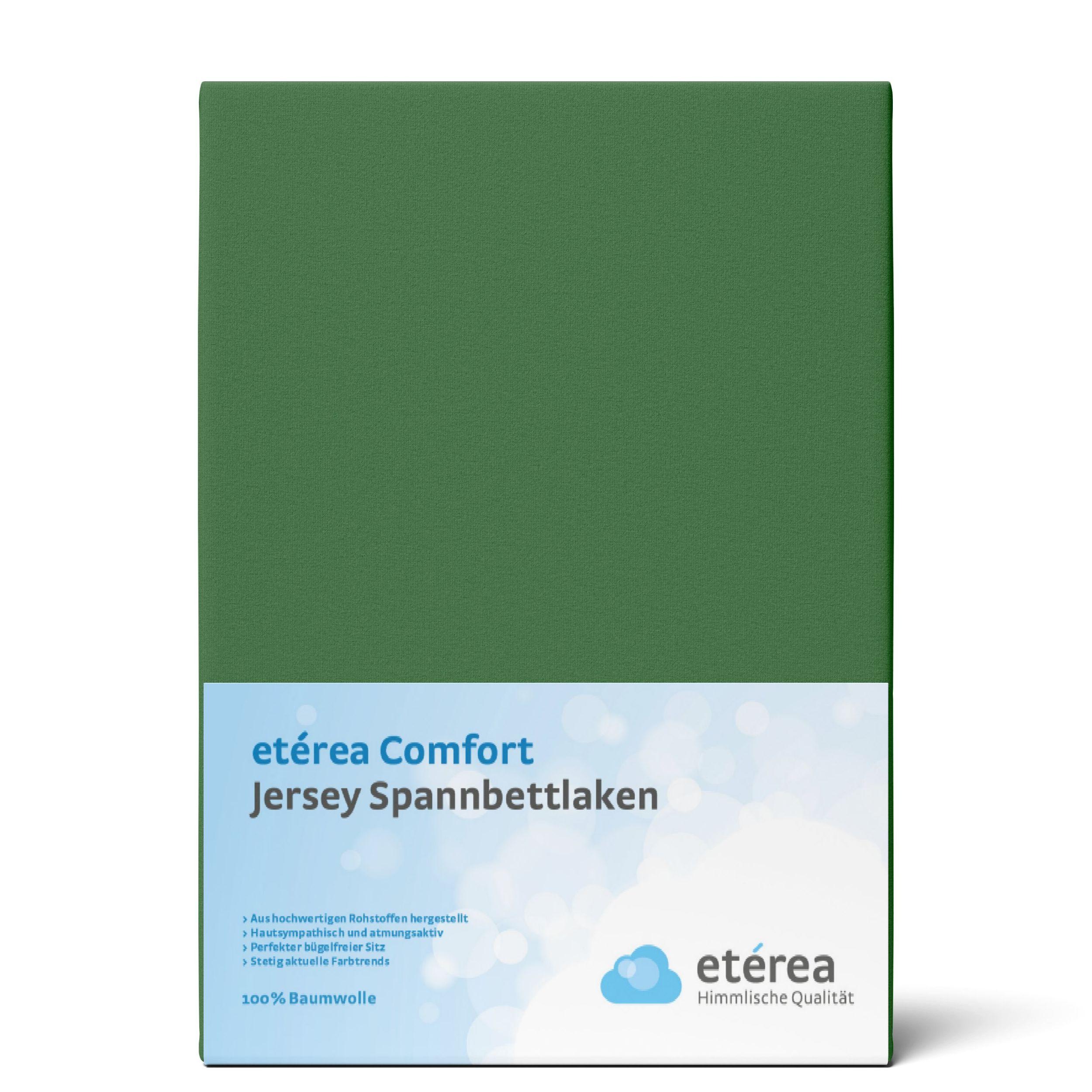 Indexbild 69 - Spannbettlaken etérea Jersey Spannbetttuch 90x200 140x200 180x200 100% Baumwolle