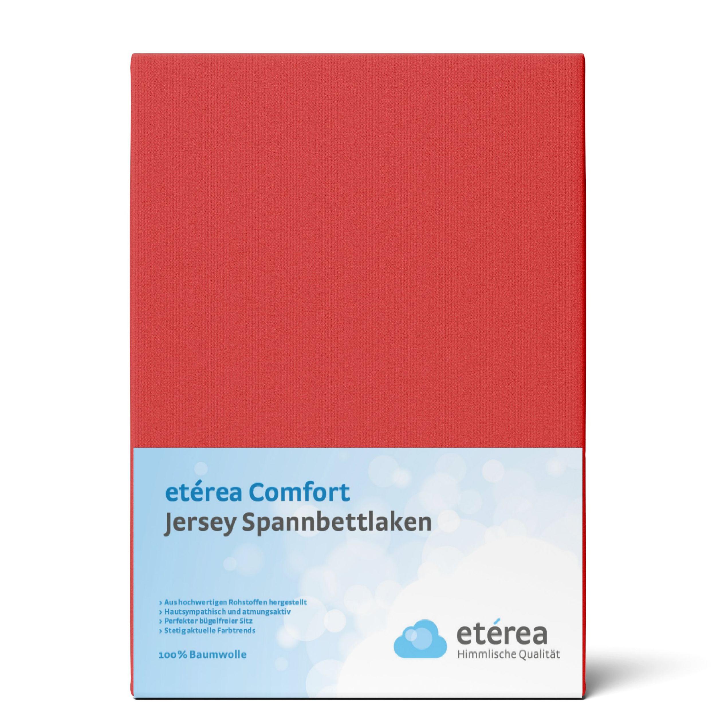 Indexbild 75 - Spannbettlaken etérea Jersey Spannbetttuch 90x200 140x200 180x200 100% Baumwolle