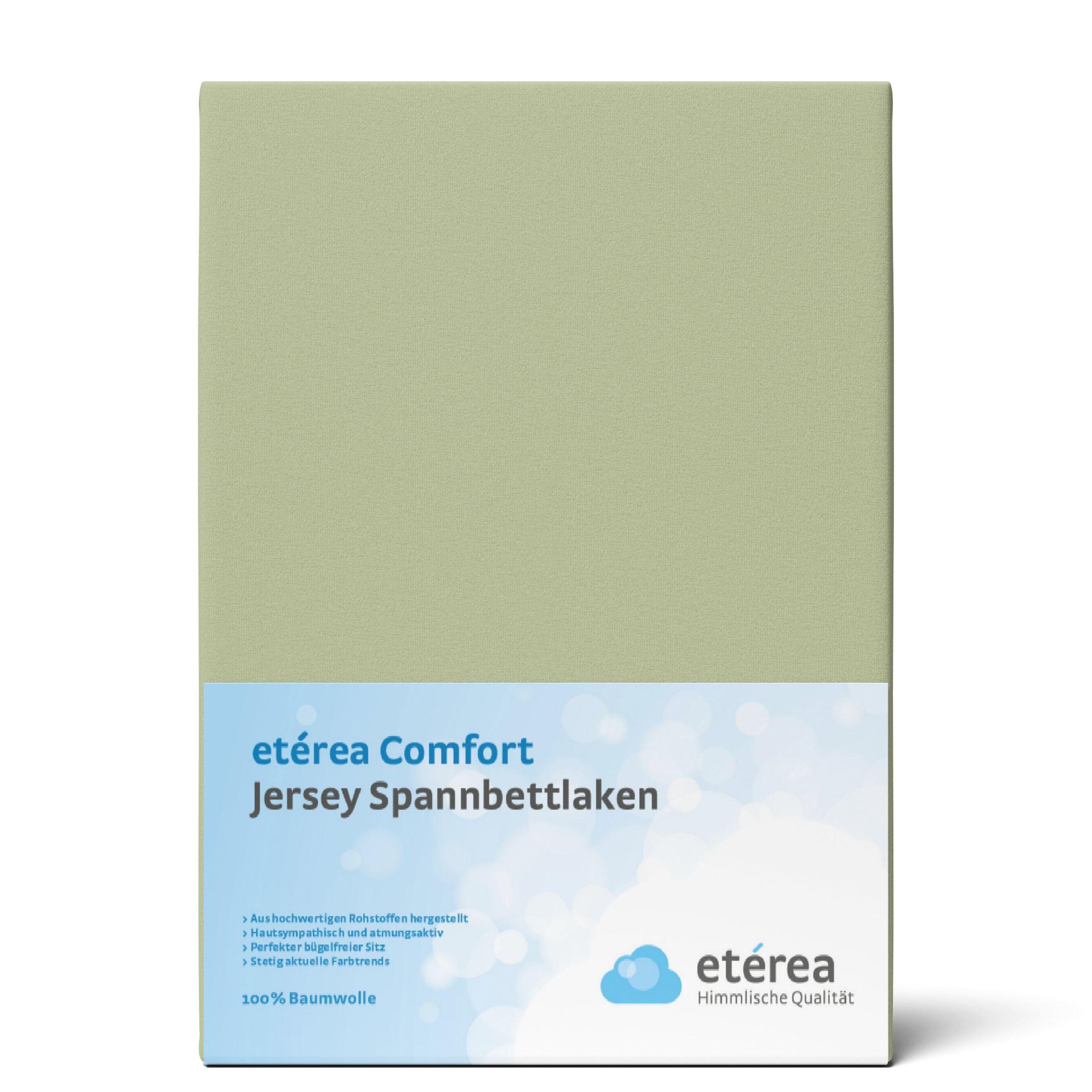 Indexbild 93 - Spannbettlaken etérea Jersey Spannbetttuch 90x200 140x200 180x200 100% Baumwolle