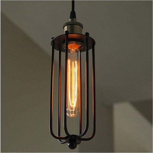 Gitter Draht Licht Decken Lampe Industriell Kronleuchter Retro ...