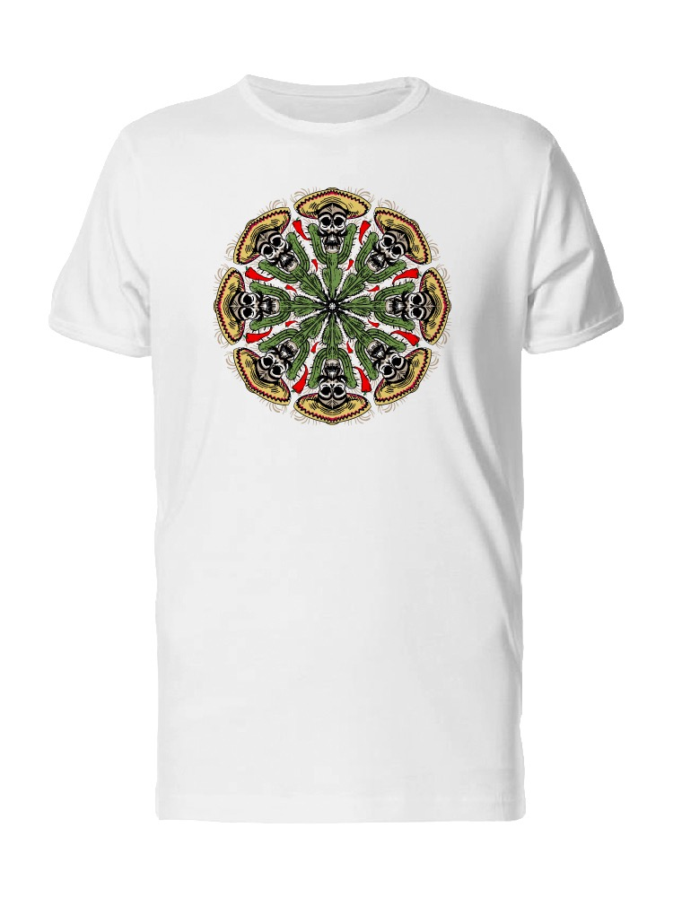 Men/'s tee,White tshirt 100/% Cotton Mandala 11 H