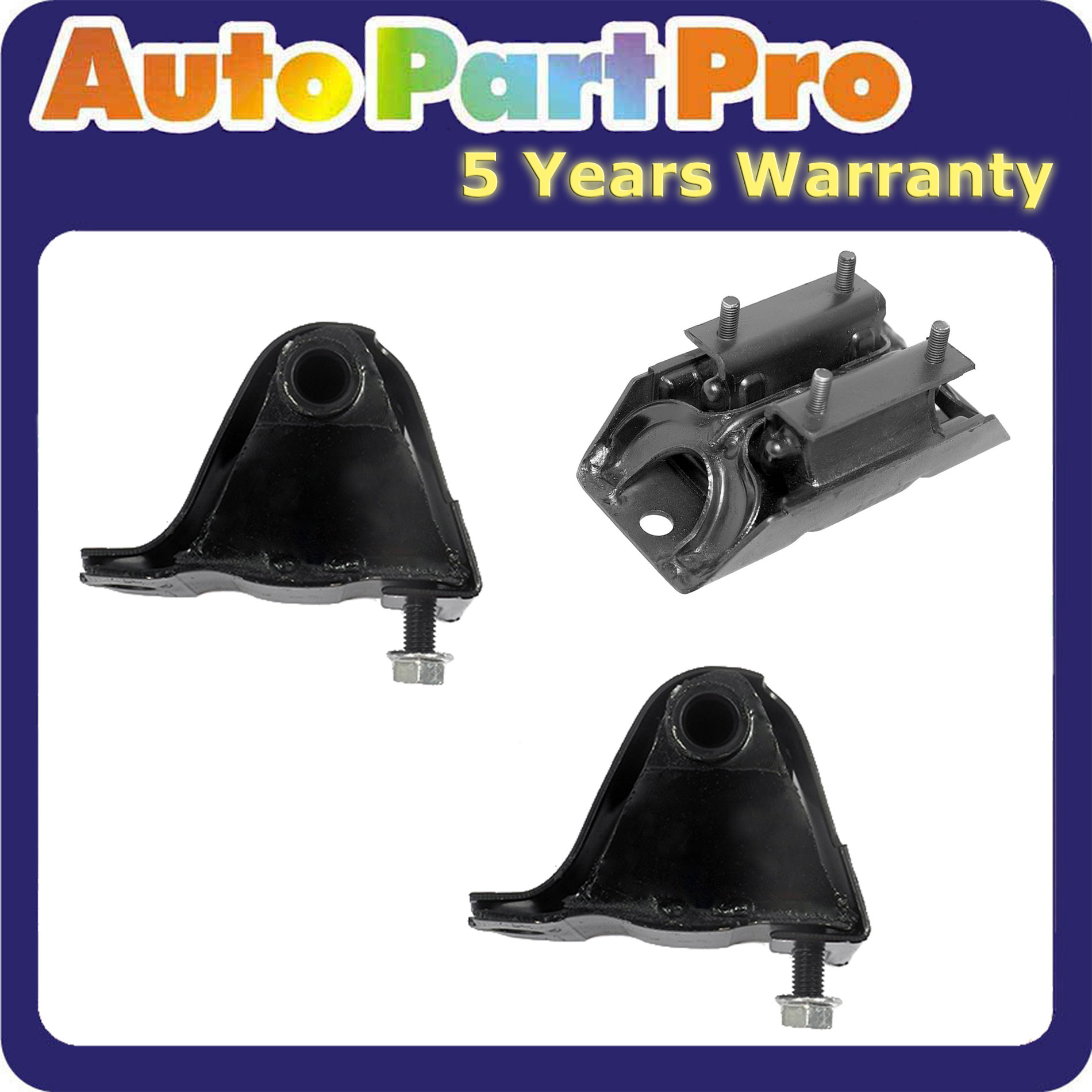 Auto RWD Motor Mounts /& Trans Mount Set 3PCS for 99-04 Jeep Grand Cherokee 4.0L