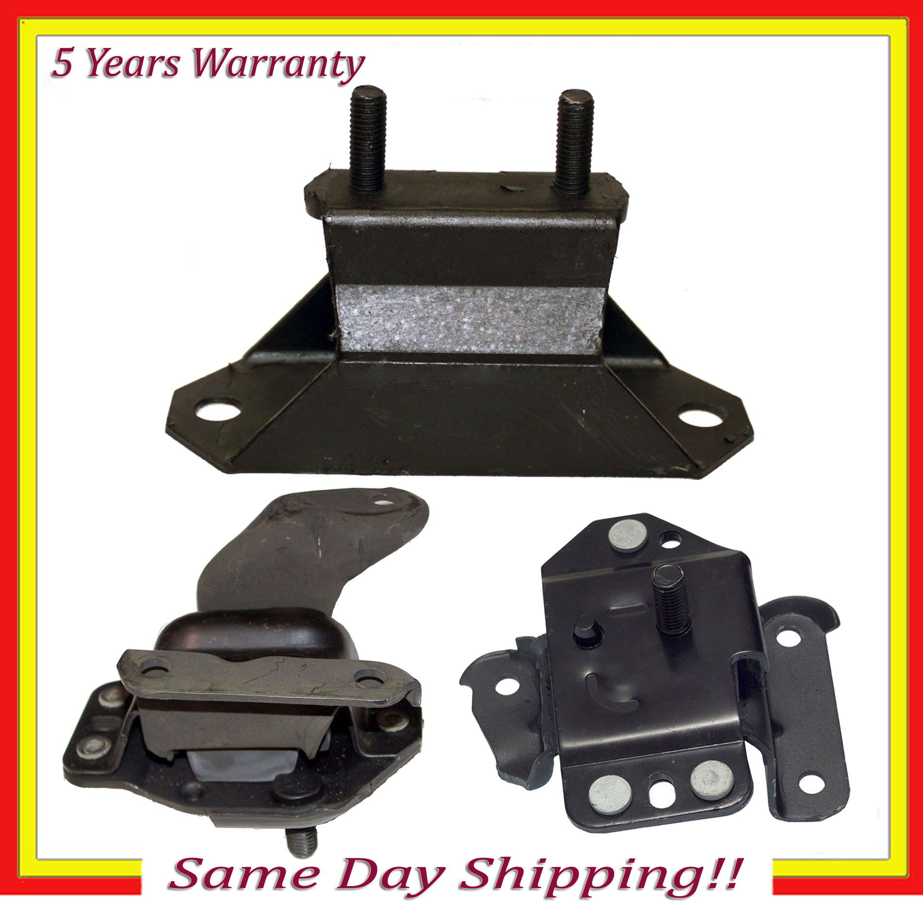 Engine Motor /& Trans Mount 2784 2997 2998 3PCS For Ford Mustang 3.8L RWD 1995