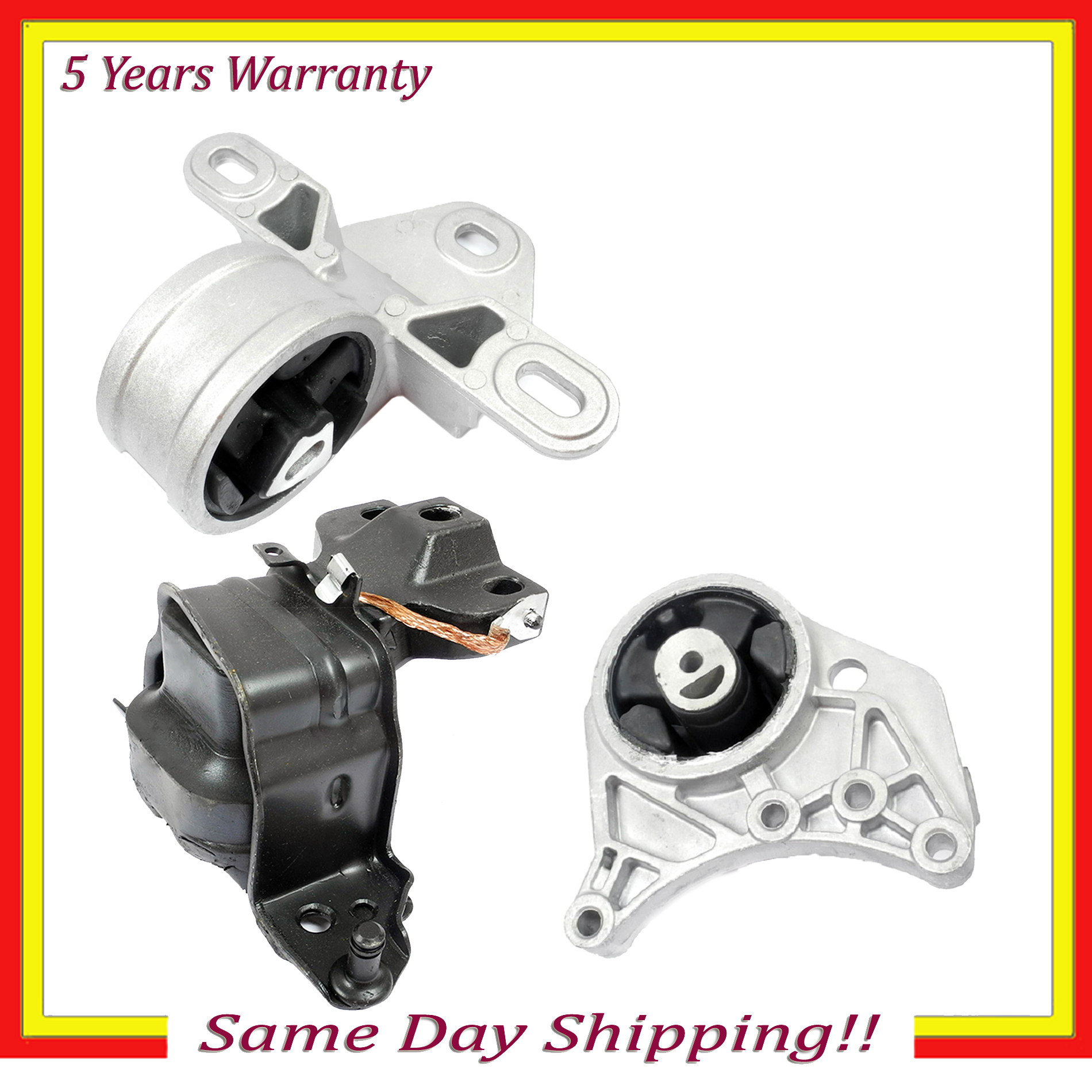 NEW 2001//2007 Chrysler Town /& Country 3.3L 3.8L Engine Motor /& Trans Mount 4 Set