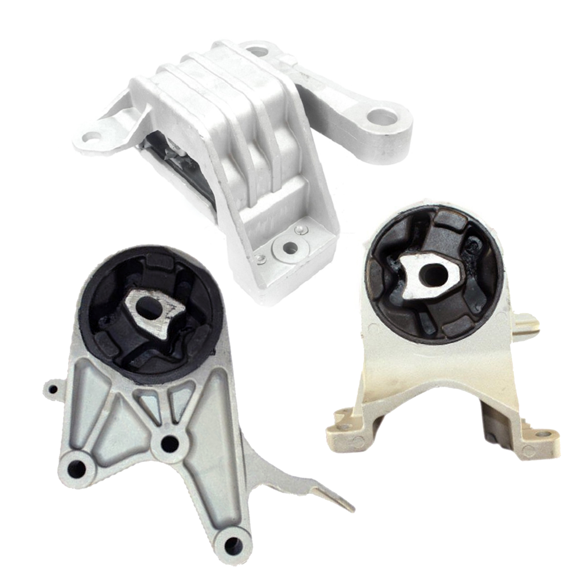 Complete Transmission Mounts Set 3PCS for 2009-2012 Chevrolet Malibu 2.4L 6spd
