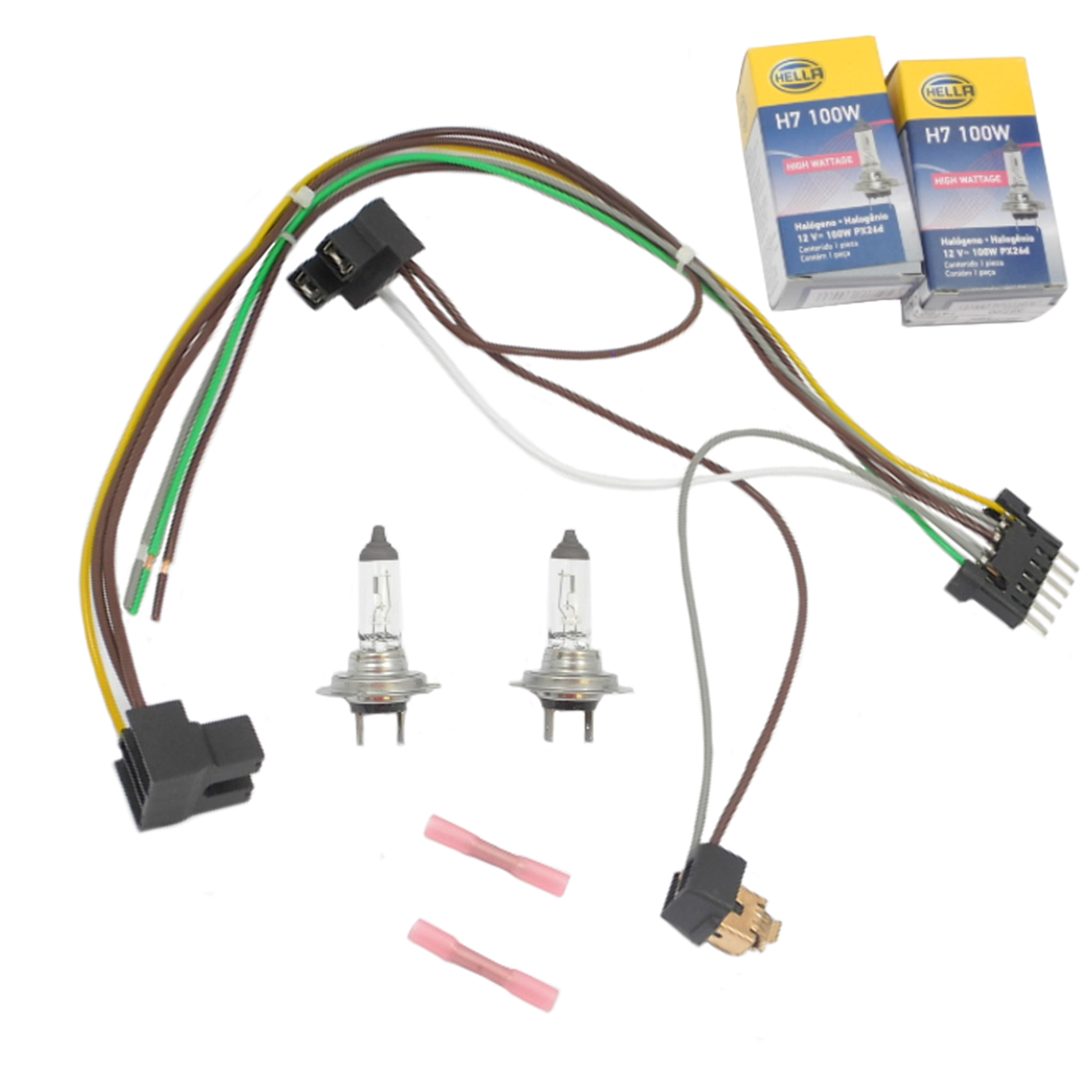 Enjoyable For S55 S600 Benz Headlight Wiring Harness H7 100W Headlight Bulb Wiring Digital Resources Funapmognl