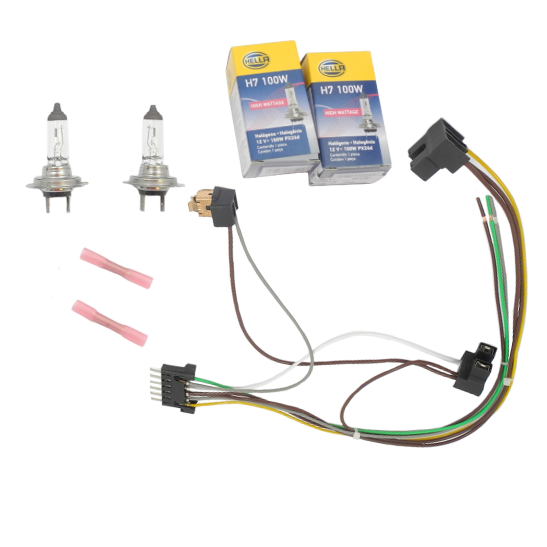Details about Headlight Wiring Harness & H7 100W Headlight Bulb For on