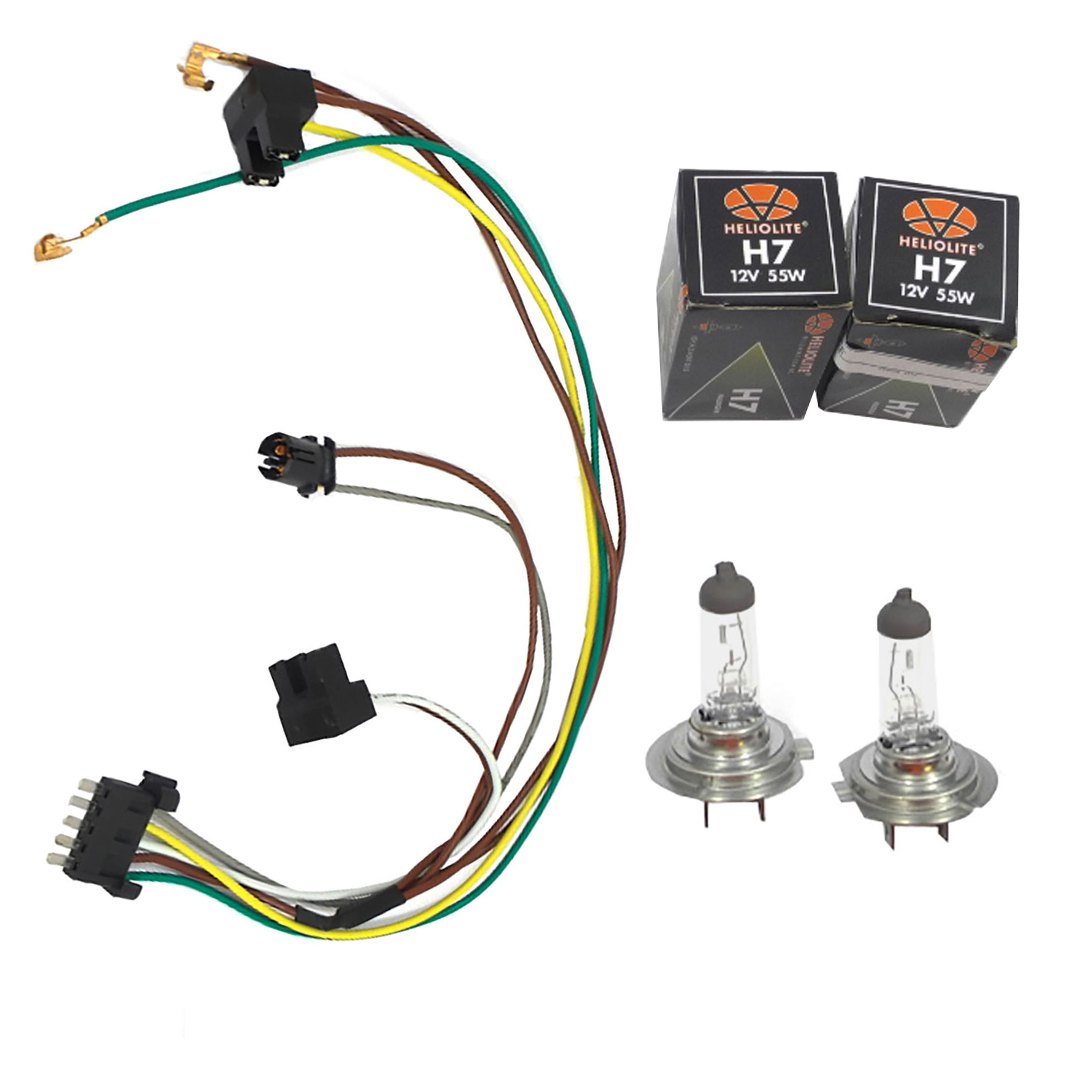 Details about For C230 C320 Benz Headlight Wiring Harness & Headlight on