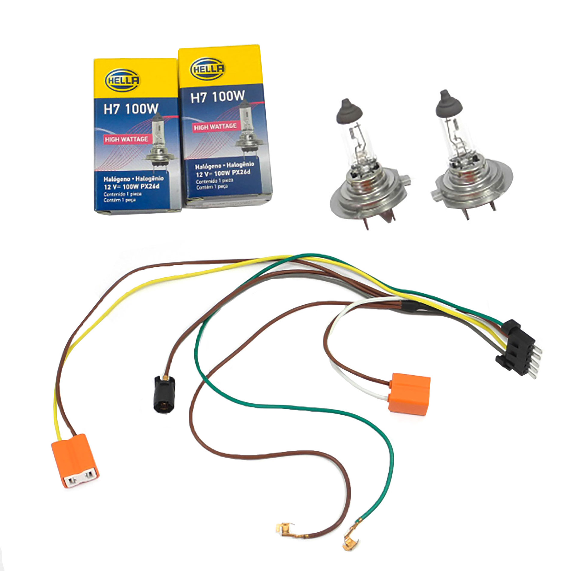 details about for c32 c240 c230 benz headlight wiring harness \u0026 headlight bulb h7 100w l r Benz C32 Engine Wiring Harness