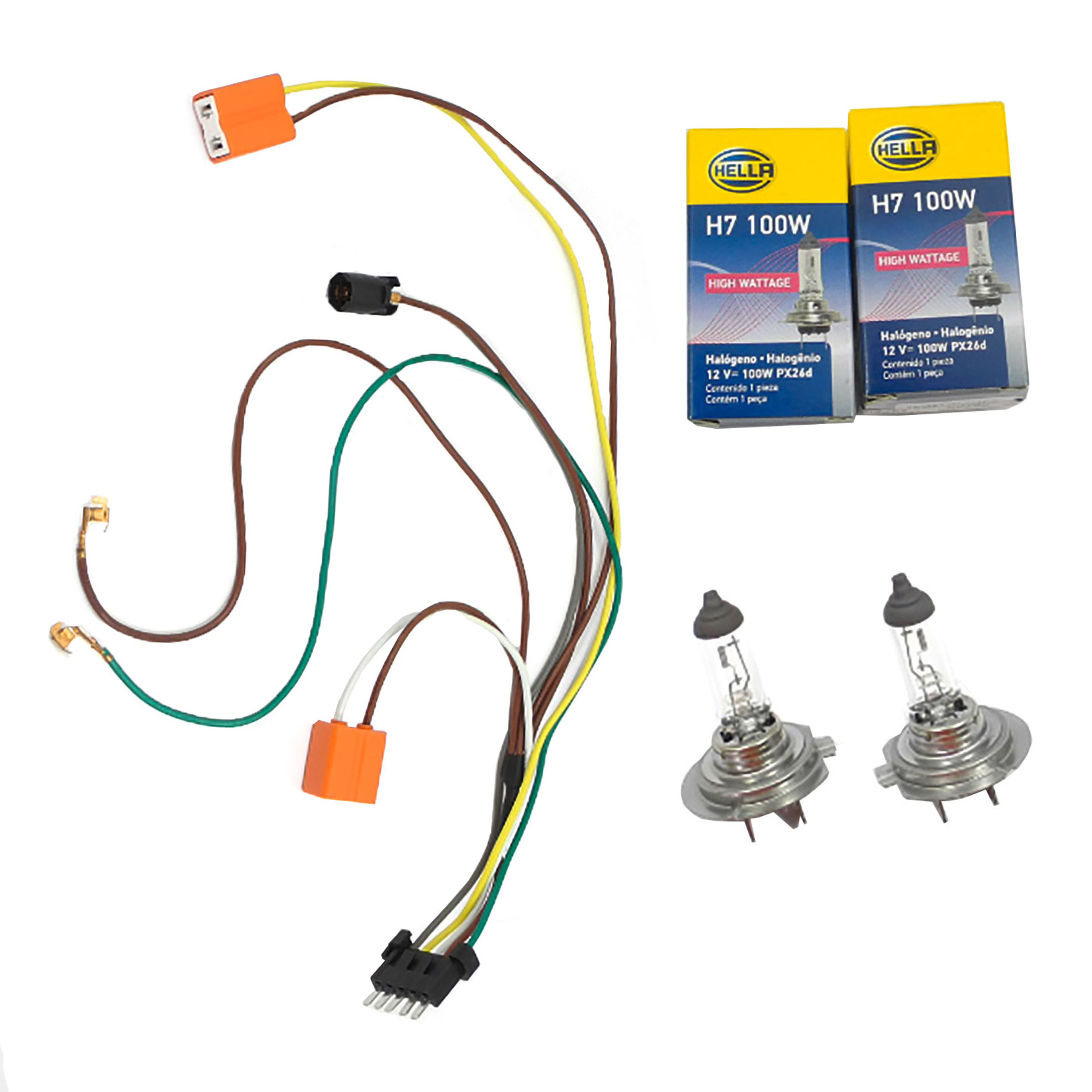 details about benz c32 c240 c230 for l r headlight wiring harness \u0026 headlight bulb h7 100w Benz C32 Engine Wiring Harness