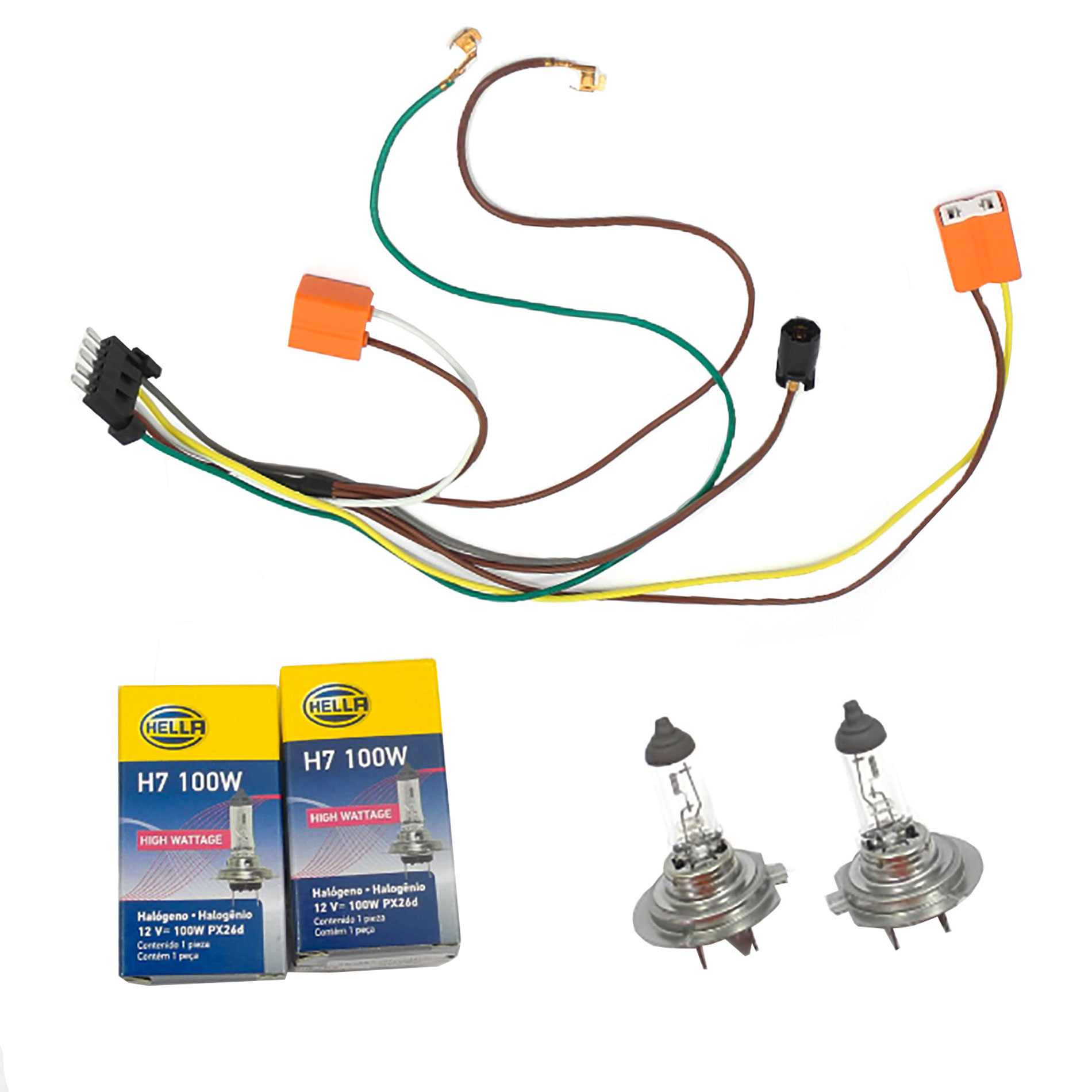 Remarkable L R Headlight Wiring Harness Headlight Bulb H7 100W For Benz C32 Wiring Digital Resources Anistprontobusorg