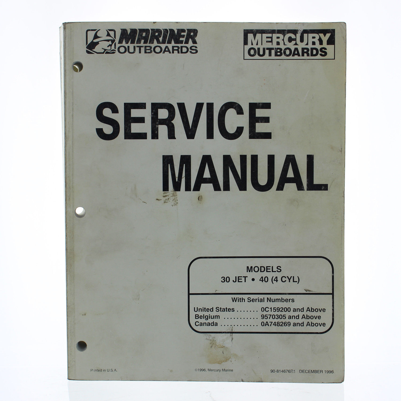 Mercury OEM Service Manual 30 Jet, 40 (4 Cylinder), 1997, 90