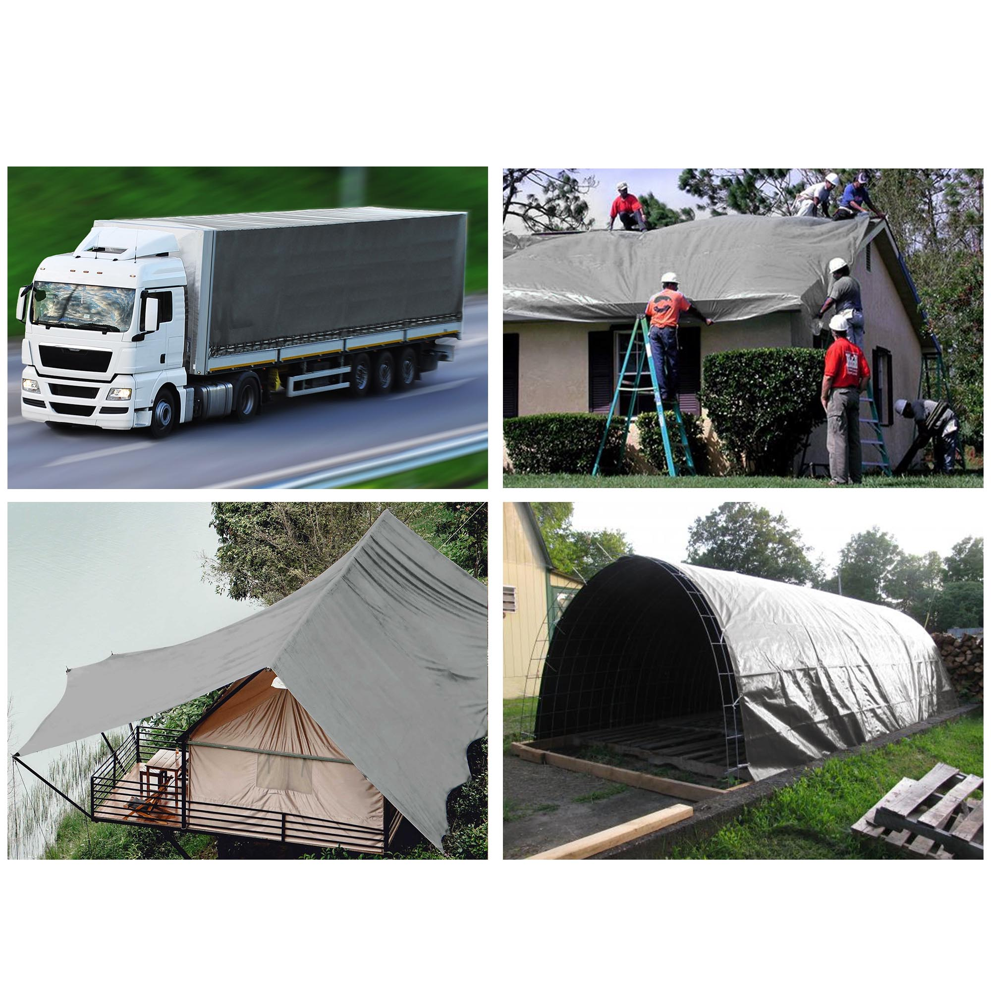Tarp Cover White Heavy Duty 30X50 Thick Material RV Or Pool Cover Waterproof Boat 30X50 Heavy Duty Poly Tarp White Great for Tarpaulin Canopy Tent